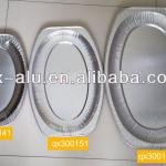 Disposable Silver Oval Aluminium Foil Meat Platters