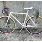 Sixxy 700c 50cm Fixie Bike White / Mirror Color Wheel - A TMC-F50W-MC-A-TMC-F50W-MC-A