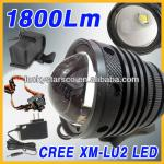 High Power 1800Lm Cree U2 T6 LED Zoomable Bicycle Light / Head Lamp / Rechargeable / Waterproof-XM-L U2