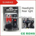 bicycle light rear light& head light set-