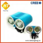 new model 2 in 1 rechargeable 2 cree xml t6 led bicycle light (HT-BL032)-HT-BL032