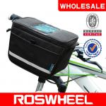 [11812] ROSWHEEL bicycle handlebar bag with inverted trapezoidal design-11812