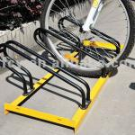 PV-3A floor mounted display bicycle parking stand for 3 bikes(ISO approved)-PV-3A