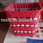 colored wicker woven front bicycle basket-HNJ-D-8610
