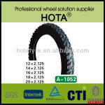 European Standard High Quality nylon bike tyres 14x2.125-1052