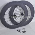 2014 Fashion 700C 88mm Tubular carbon wheels 3K matt for sales-88T