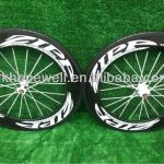 zipp 808 carbon fiber road bicycle 88mm wheels clincher/tubular wheelset&POWERWAY R13 hub zipp carbon wheels-88mm601