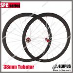 Only1130g!! Straight pull powerway R36 Hub road full carbon bike wheels 700c 38mm tubular Elapus ES-SP38T-ES-SP38T