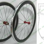 NEW U shape Farsports 50mm clincher alloy carbon wheels with stiff alloy brake surface-FSC50-CA