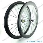 Hot Sale!! Cheap Carbon Wheels Clincher 50mm With Novatec Hubs 3K/12K/UD Weave Glossy/Matte 20H/24H Front and Rear Wheels-CRBW50C