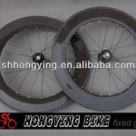 700c full carbon track wheel,88mm tubular bicycle track wheels with 3K clear coating in stock-fixed gear