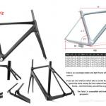 2013 New carbon road frame light weight, di2 carbon road frame-Talia C