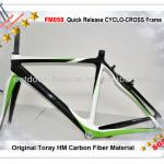 High quality cyclocross frame, full carbon fiber FM058 racing bicycle frame, 3K/12K/UD weave finish-FM058