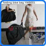 600D folding bike carry bag with wheels-YWbag001