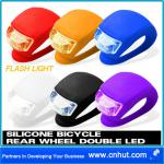 New Silicone Bike Bicycle Rear Wheel Double LED Flash Light-C1939