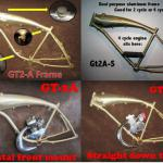 bicycle frame with built tank on it-Gt2A & Gt2A-S