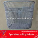 Strong grey steel wire bicycle basket-PS-BSK-008