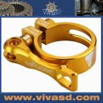 Bicycle seat clamp with QR gold Ti Screws 25gr light gold-VSD-CNC