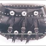 Top quality genuine Leather Motorbike Saddle bag-KI-SB00012
