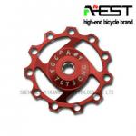 11T Anodized Red Derailleur Pulley for Bike-YPU09A04