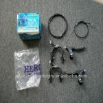 a set of bicycle rim brake with brake cable and brake lever-