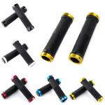 1 Pair MTB Bike Bicycle Cycling Tube Type Lock On Handlebars Rubber Grips Ends-SC-0L463F