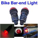 2 Pcs Bicycle Bar End Light Bike Red LED Light, Light Bar End-T-TOOL-1390