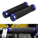 1 Pair Lock-on Round Handle Grip For Bicycle Mountain Bike Road Bike Handlebar Sets blue-TK0674