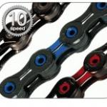KMC Hollow Pin 10 Speed Colored Bicycle Chains X10SL DLC-X10SL DLC