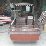 New arrivel 6m lenth fiberglass rowing boat for 2 person fishing in the river-