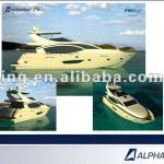 real 75' yacht made of glass steel, Maintenance-free-ALPHA 75