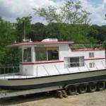SEAGOING brand HOUSEBOAT-