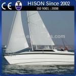 Hison manufacturing brand new fancy certified house boat-sailboat
