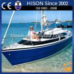 Hison 26ft Sailboat antique model outboard motor fibreglass sailboat luxury decoration-HS-006J8