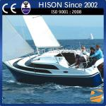 Hison 26ft Sailboat antique model outboard motor sailing boat model for sale luxury decoration-HS-006J8