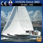 Hison 26ft Sailboat antique model outboard motor sail boat for sale luxury decoration-HS-006J8