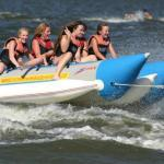 2012 {Qi Ling} double tube banana boat with yellow red blue and Secondary color for choose-QL-double tube banana boat-5