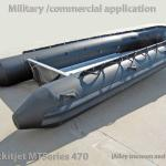 Dockitjet 470 hypalon rubber military inflatable with alloy transom-
