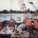 Manitowac 150 Ton Crawler Crane On Barges-
