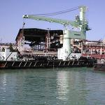 Floating cranes, shipbuilding, shipyard-