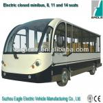 Electric enclosed sightseeing bus, 11 seater, CE approved-EG6118KBF