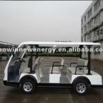 8 seats Electric Sightseeing tourist coach, Tourist Shuttle Mini Bus with Power-Assisted Steering LQY83A-HW-LQY83A