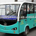 electric sightseeing bus for tourist with enclosed doors-HWT14-ML