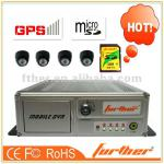 4CH H.264 Bus DVR with GPS module CE and FCC certificates-FTH-DVR-F3
