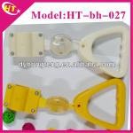 Yellow safety handles for subway parts-
