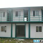 Two-storey ecnomic and concise prefabricated container house-