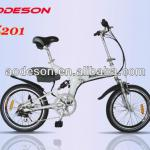 Special design style folding ebike TZ201suspension frame electric bicycle-TZ201