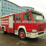 Sinotruck HOWO crew cab 4*2 7000L water tank new China fire truck