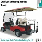 Electric utility cart, 4 seats with rear flip flop seat, CE approved,EG2028KSZ-