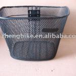 stainless bicycle basket_black_TZ brand